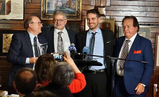 José Luis Villacañas, Pedro Tarquis, Daniel Hofkamp y Juan Antonio Monroy. / MGala, Actualidad Evangélica