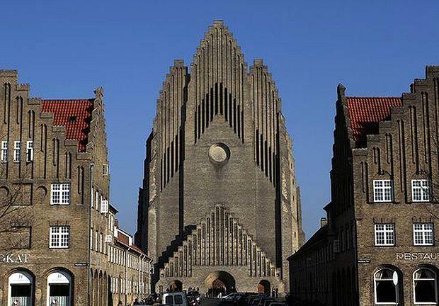 <p> Iglesia Luterana de Grundtvig (Dinamarca)</p> ,