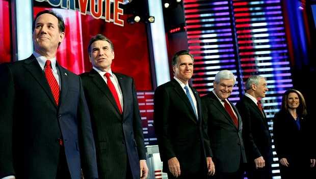 <p> Candidatos republicanos en Iowa (2012)</p> ,