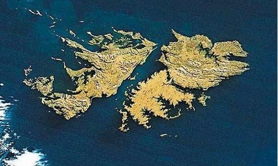 <p> Visi&oacute;n a&eacute;rea de las Islas Malvinas</p> ,