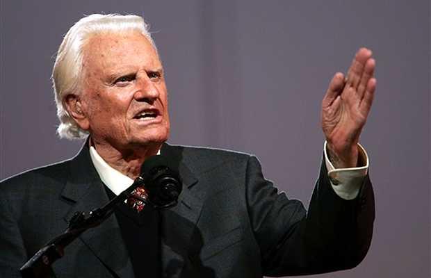 <p> El predicador Billy Graham.</p> ,