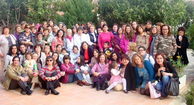 <p> Participantes del XXI Retiro de Mujeres Evang&eacute;licas de Castilla y Le&oacute;n, en septiembre de 2012.</p> ,