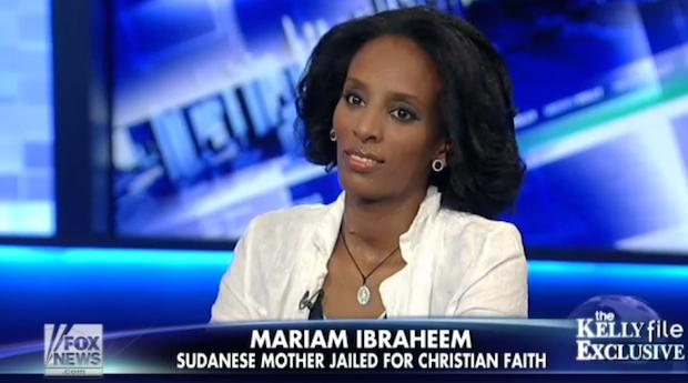 Meriam Ibrahim, en el programa de entrevistas de Megyn Kelly en Fox News.,Meriam