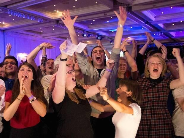 Celebraciones en Glasgow, este viernes.,Glasgow