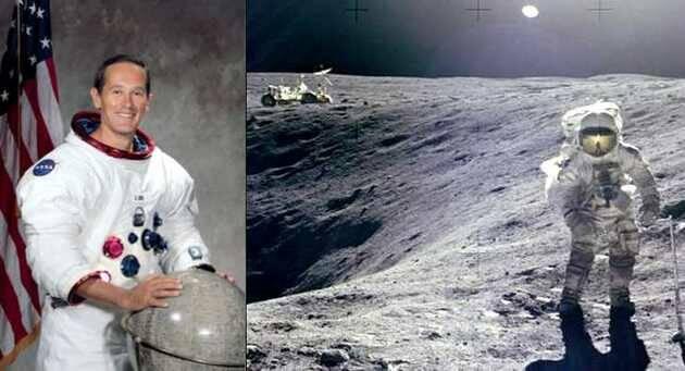 Charlie Duke, durante la misión del Apolo 16 y el paseo lunar / Wikipedia,Charlie Duke