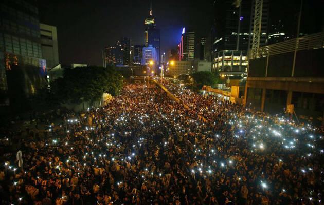 Vista de las manifestaciones en Hong Kong. / Reuters. ,Hong Kong