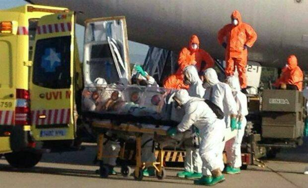 Aislamiento de un paciente de ébola.,ebola