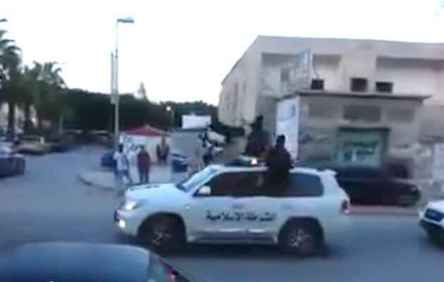 Yihadistas islámicos de ISIS en Derna ,ISIS