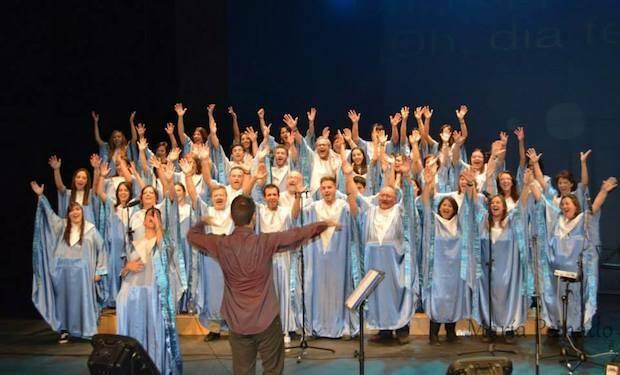 El coro Gospel de Castilla la Mancha, cantando.,Gospel