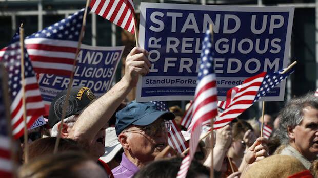 Manifestación a favor de la libertad religiosa en Estados Unidos.,Estados Unidos