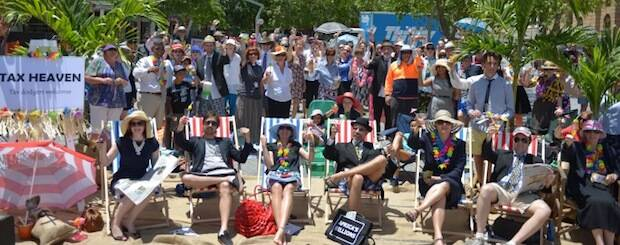 Unos cien cristianos representan un paraíso fiscal, en Brisbane. / Micah Challenge,