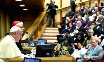 La conferencia en el Vaticano contó con la participación del papa Francisco.