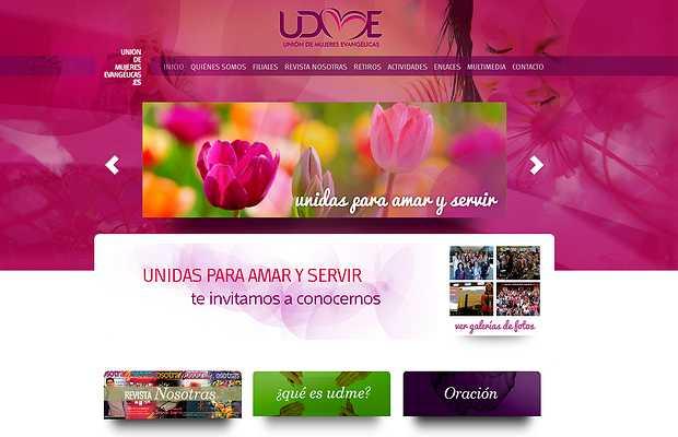 <p> Portada de inicio de la web de UDME</p> ,