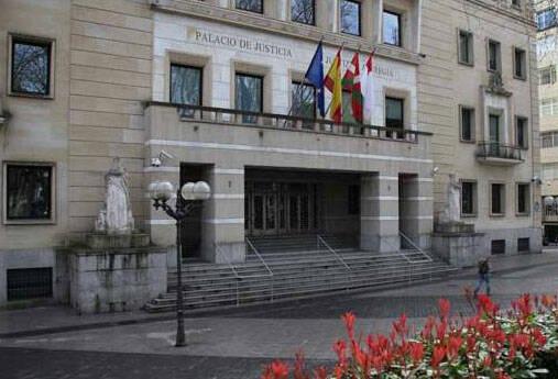 Palacio de Justicia, en el País Vasco.,
