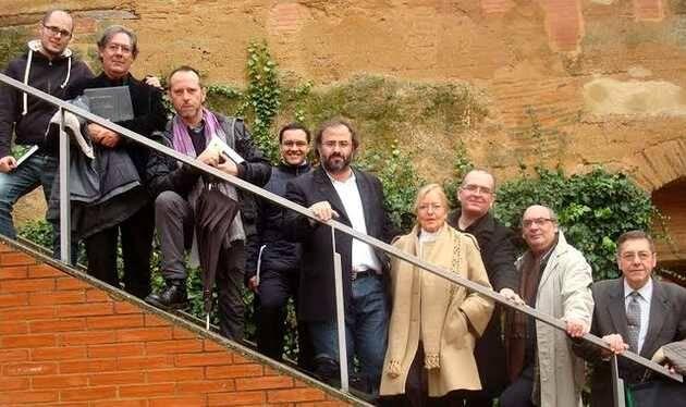 Foto del último encuentro de 'Los poetas y Dios',Toral poetas Dios