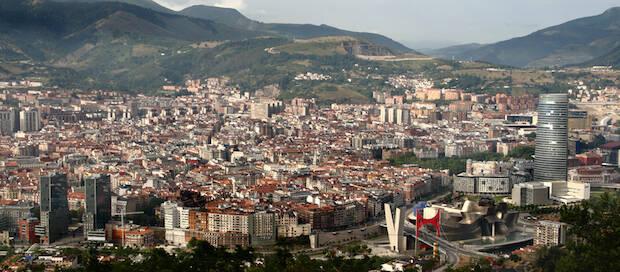 Perspectiva de la ciudad de Bilbao.,bilbao