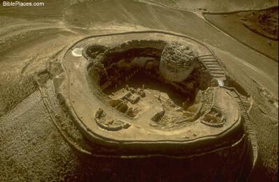 El Herodión, desde una perspectiva aérea.