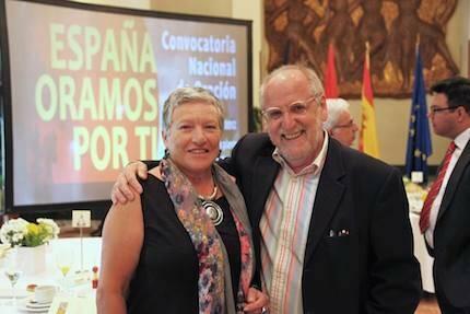 Junto a Rosa María Medel. / MGala