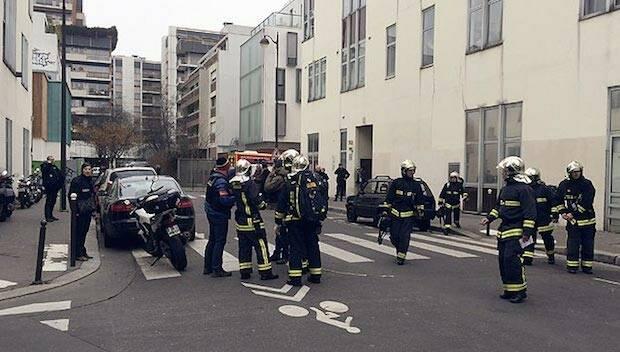 La policía acordona la zona del ataque, en París.,paris