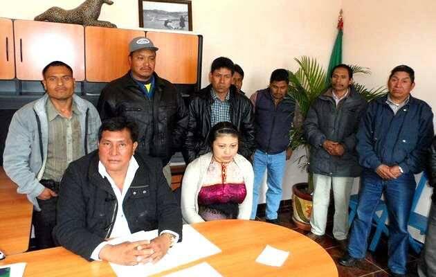 Conferencia de prensa de la OPEACH,Chiapas, indígenas evangélicos