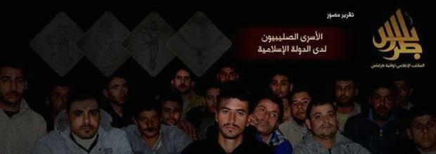 Imagen de los secuestrados difundida por el Estado Islámico en Siria.,