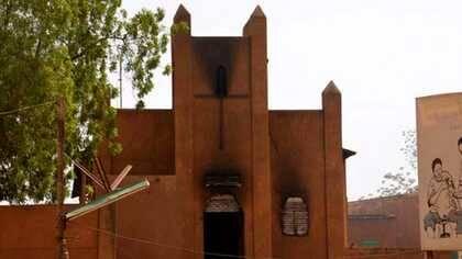 Una de las iglesias quemadas en Níger