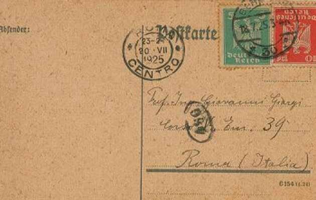 El anverso de la carta de Einstein a G. Giorgi,carta, Albert Einstein, Giovanni. Giorgi