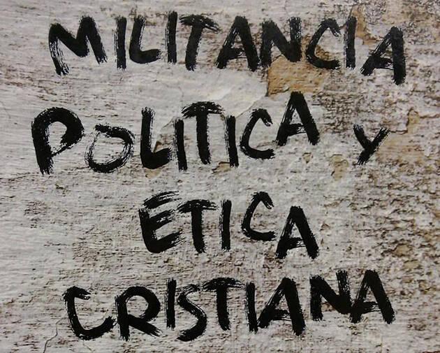 Detalle de la portada del libro.,J. Míguez, ética cristiana política