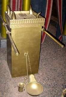 Reconstrucción del altar del sacrificio / Wikipedia