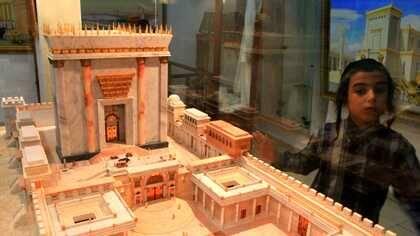 Maqueta del Tercer Templo en el Instituto del Templo
