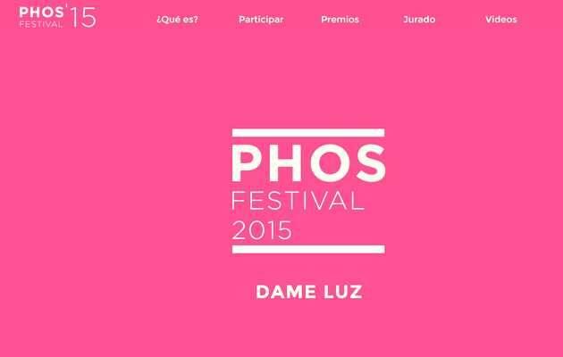 Portada de la web del Festival Phos,FestivalPhos