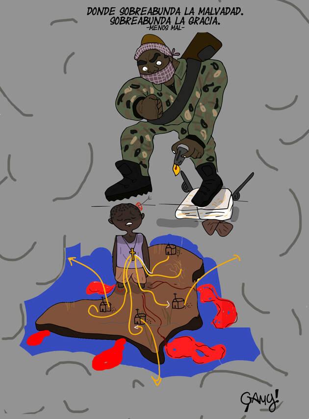 Ilustración: Génesis Yélamo, Gamy.,boko haram comic