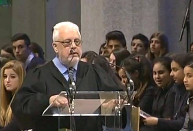 Guillem Correa, secretario general del CEC, durante su intervención en el Funeral de Estado por las víctimas del vuelo de Germanwings. / RTVE,guillem correa
