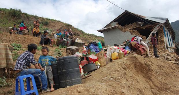 Miles de familias han perdido sus casas en el terremoto. / Tearfund,nepal tearfund