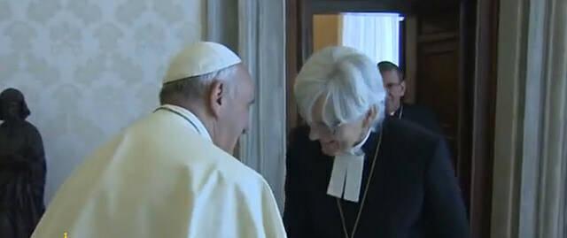 El papa Francisco recibe a la arzobispa luterana de Suecia. / RD,francisco suecia