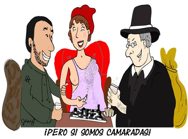 Ilustración: Génesis Yélamo, Gamy.,elecciones, psoe, pp, podemos, viñeta