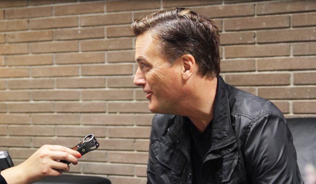 Michael W. Smith, en un momento de la entrevista. / Gabriela Pérez, Protestante Digital.,Michael W. Smith, Barcelona