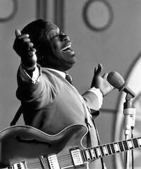 B.B. actuando en 1967, en el festival de jazz de Monterey. / Herald