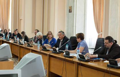 Políticos rumanos se encuentran con representantes de la Conferencia. / EFN