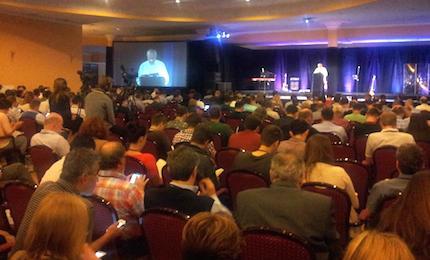 La sala principal, durante una conferencia de Ajith Fernando. / Evangelical Focus
