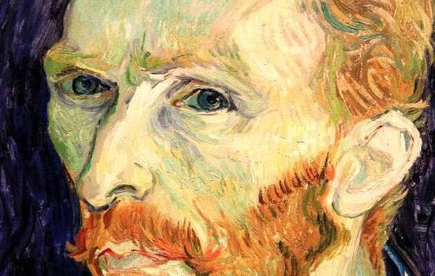 Detalle de un autorretrato de Van Gogh,autorretrato, Van Gogh
