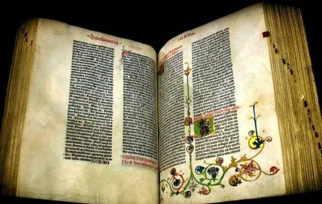 Un ejemplar conservado de la Biblia de Gutenberg,Biblia, Gutenberg