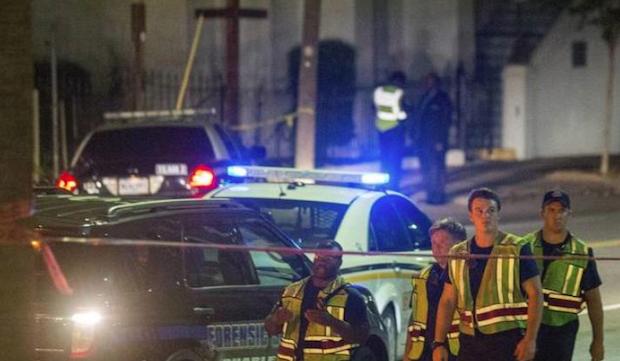 La policía en Charleston, donde se produjo el ataque.,