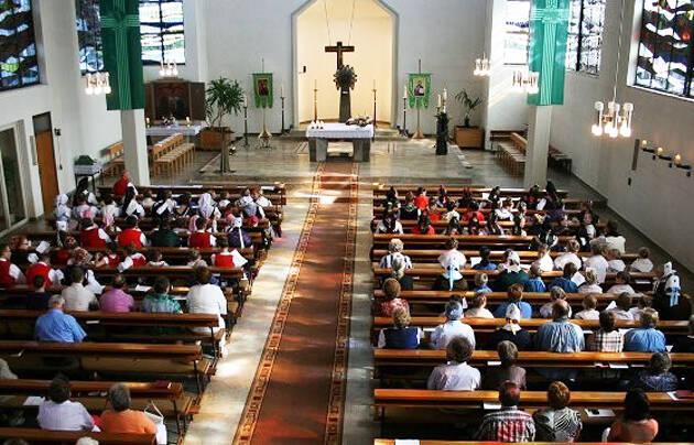 Iglesia Evangélica de Alemania (EKD), en un culto.,