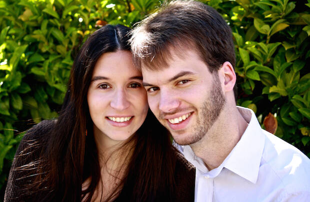 Daniel y su esposa Tatiana.,Daniel Tester y Tatiana