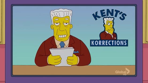 Kent Brockman, de Los Simpson. ,Kent Brockman, Simpsons