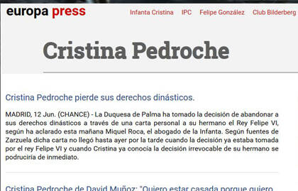 Cristina Pedroche en Europa Press.