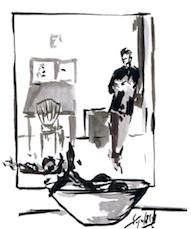 Una de las ilustraciones, firmada por Miguel Elías.
