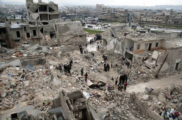 La ciudad de Alepo, escenario de combates durante los últimos cuatro años. ,Alepo