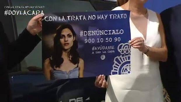 Imagen de la campaña contra la trata impulsada por la Policía y algunos medios en España. / Telecinco,